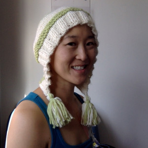 February 13, capucin hat with tassels (thanks for the incredibly soft yarn, Rhaetia & Elaine!)