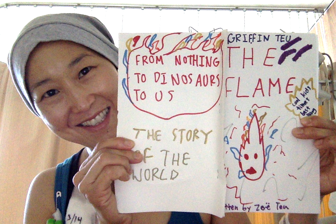 The Flame, a comic book by Zoë and Griffin, copyright 2015