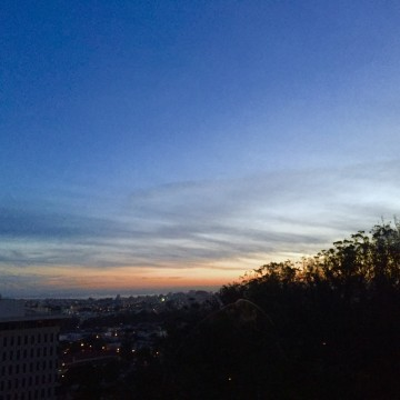 3/18 sunrise outside UCSF Parnassus