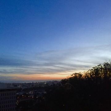 3/18 sunrise outside UCSF Parnassus